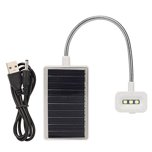 Rehomy Clip On Desk Lamp 3 LED USB Rechargeable and Solar Powered Clip On Lights for Desk for Bedroom Table Reading