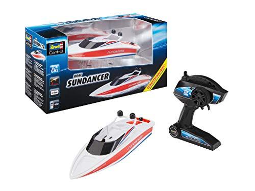 Revell Control 24137 RC Boot SUNDANCER, met waterdichte elektronica en geïntegreerde Li-ion-accu op afstand bestuurd schip, wit/rood