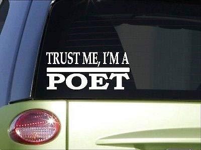 Trust Me Poet *H* Inch Calcomanía de escritor poesía poemas libro tesauro