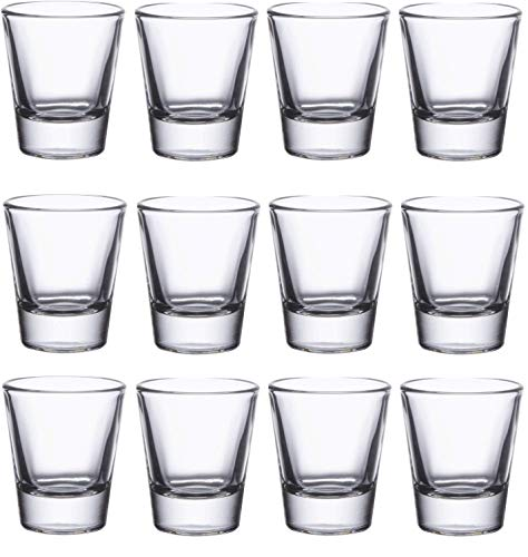12-Pack - 1.5-Ounce Heavy Base Shot Glass Set, Perfect for Tequila, Vodka, Espressos, and Whiskey Shot Glass