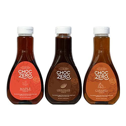 ChocZero Syrup Variety Pack (Chocolate, Caramel, Maple)