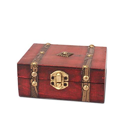 Dowoa Cofre del Tesoro, Cofre Pirata de Madera Vintage Caja de Almacenamiento...