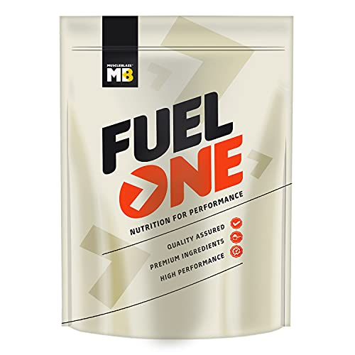 MuscleBlaze Fuel One Whey Protein,24 gm Protein, 5.3 gm BCAA, 4.2 gm Glutamic Acid (Café Mocha, 1 Kg)