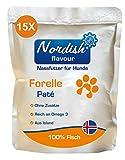 Nordish flavour Forelle Nassfutter für Hunde aus 100% isländischem Fisch |...