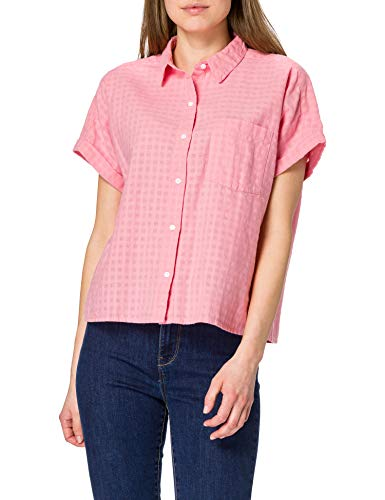 Levi's Laney SS Button Down Camisa, Peony, XS para Mujer