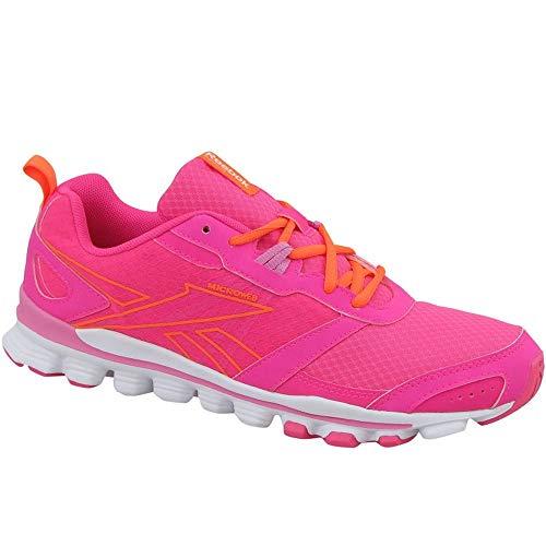 Reebok Mädchen Hexaffect Run Laufschuhe, Rosa/Weiß/Orange (Solar Pink/Icono Pink/White/Electric Peach), 39 EU