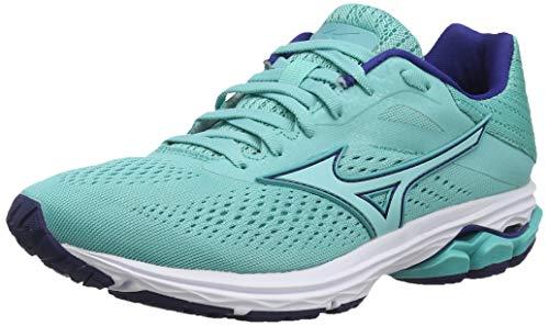 Mizuno Wave Rider 23, Zapatillas de Running para Mujer, Blue Blueturquoise Blueprint 25, 42 EU