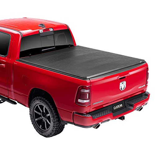 "Gator ETX Soft Tri-Fold Truck Bed Tonneau Cover | 59422 | Fits 2019 - 2021 Dodge Ram ""New Body Style"" w/out multifunction tailgate 6' 4"" Bed (76.3"") 