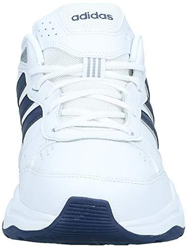 adidas Strutter, Zapatillas Deportivas Fitness y Ejercicio Hombre, Blanc Bleu Foncã Argent Mat, 41 1/3 EU