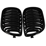 Viviance ZHVICKY Double Line Grille Gloss Black Front Grills para BMW E46 4-Door 3 Series 02-04