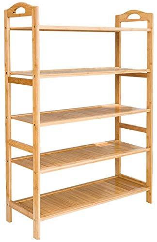 YLCJ Stabiele meerlagige Bamboe Schoenenkast/stofdichte woonkamer voor opslag/slaapgedeelte Shoebox/Open haard Schoenenrek Schoenenrek (maat: B)