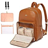 PU Leather Diaper Bag Backpack - Nappy Bag Baby Bags for Mom Unisex Maternity...