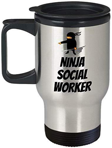 Grappige Sociale Werker Reizen Mok Sociale Werker Cadeau Idee Sociaal Werk Present Ninja Sociale Werker