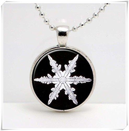 Leonid Meteor Dusche Schneeflocke, Schneekristall, Antikes Bild, Kunstglas-Anhänger, ein exquisites Geschenk.