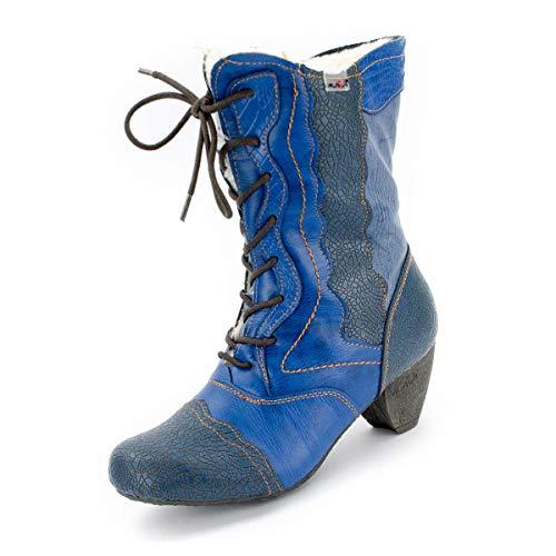 TMA Damen 8991 Winter-Stiefeletten Jeansblau 42