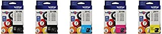 Genuine Brother LC201 (LC-201) Color (Bk/C/M/Y) Ink Cartridge 5-Pack (Includes 2 LC201BK, 1 LC201C, 1 LC201M,1 LC201Y