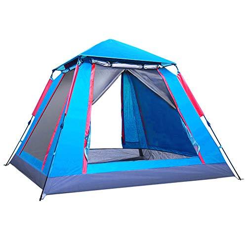 IUANUG Tragbare Camping-Zelt wasserdichte Bergsteigen Fischen Vollautomatische Zelt im Freien 2-3-4 Personen Zwei Zimmer Eine Halle verdickte Camping Wilder Doppel,b