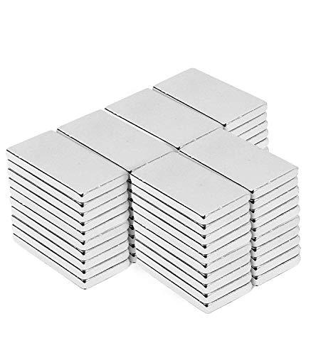 Neodym Magnete, 60 pcs Magnetics rechteckig Starke Bar Heavy Duty seltene Erden Magnete N52 NdFeB Rare Earth Permanentmagnet für DIY Building Craft Office