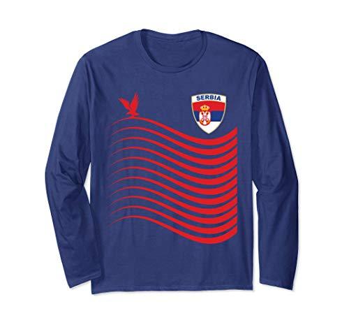 Serbia Basketball Jersey Srbija Basketball Flag Gift Long Sleeve T-Shirt