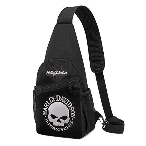 Harley Davidson Mode Schultertasche Herren/Damen Brusttasche Schulterrucksack Umhängetasche Outdoor Sporttasche Reisetasche