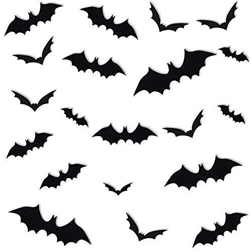 ZeeDix 180Pcs 3D Scary Bats Sticker…