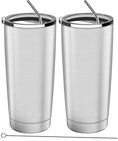 Stainless Steel Tumbler 20oz Vacuum Insulated Tumbler Coffee Cup Double Wall Large Travel Mug product image