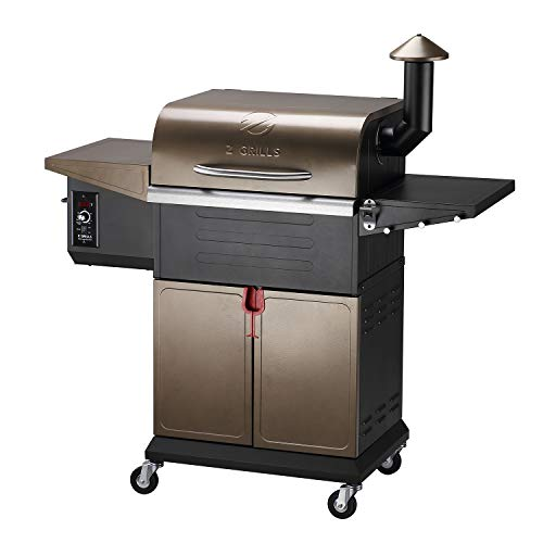 Z GRILLS ZPG-600D Wood Pellet Grill Smoker for Outdoor Cooking, 2020 Upgrade, 8-in-1 & Pid Controller