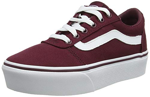 Vans Ward Platform Canvas Trainers voor dames