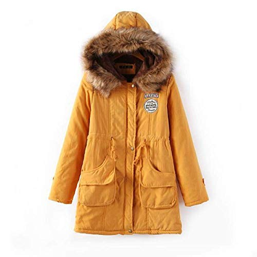 DPKDBN donsjack, dikke warme parka met capuchon Mujer Cotton Padded Coat Lange hak Plus Size 3XL Slim Jacket Female