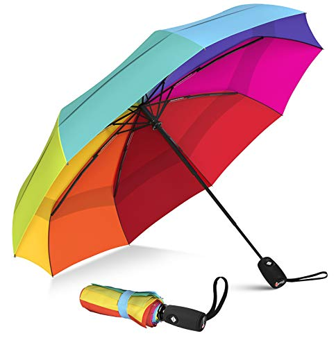 Foldable windproof Travel Umbrella with Teflon Coating