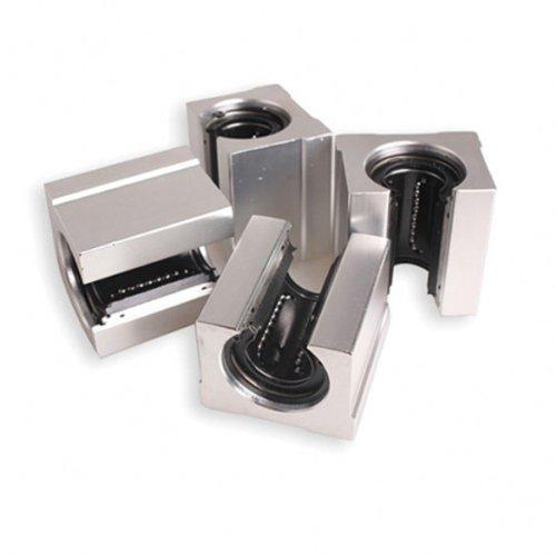 Dealglad 4Pcs SBR16 UU 16mm Aluminum Open Linear Bearing Pillow Block Bearing Slide Block CNC Router Parts