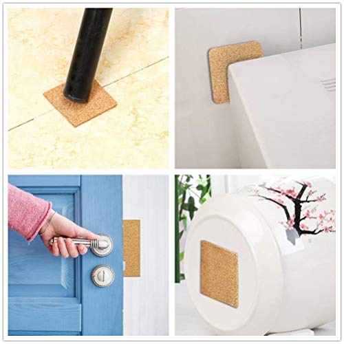 Self-Adhesive Cork Coasters Squares 40 Pcs, 4 x 4 Inch Mini Wall Cork Tiles Cork Backing Sheets for Coasters and DIY Crafts
