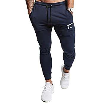 PIDOGYM Men s Slim Jogger Pants,Tapered Sweatpants for Training Running,Workout with Elastic Bottom Navy Blue
