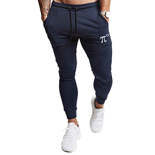 PIDOGYM Men's Slim Jogger Pants, Tapered Sweatpants for Training, Running, Workout with Elastic Bottom Navy Blue