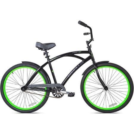 26' Kent La Jolla Men's Cruiser Bike, Black/Green