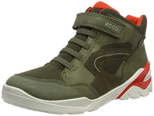 Ecco Jungen Biom VOJAGE Hohe Sneaker, Grün (Grape Leaf/Tarmac 57189), 26 EU