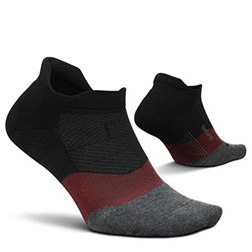 Feetures Elite Max Cushion No Show Tab Running Sock (Smoky Quartz, LARGE)