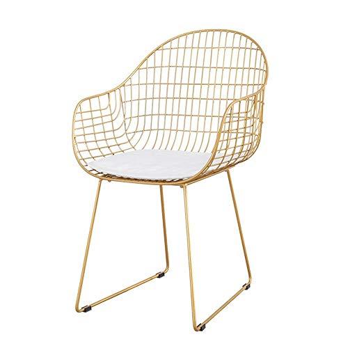 HYY-YY Sillas de comedor para cojín de cocina de mediados de siglo, modernas sillas laterales con m