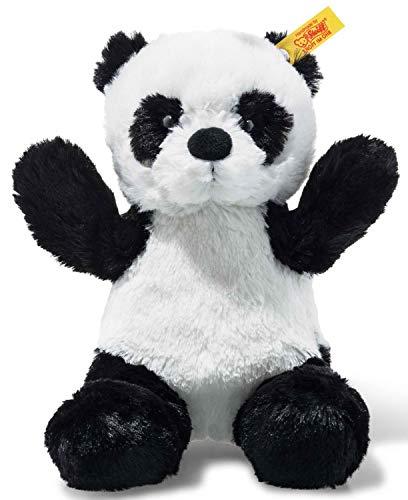 Steiff 75766 Panda, weiß/schwarz, 18 cm