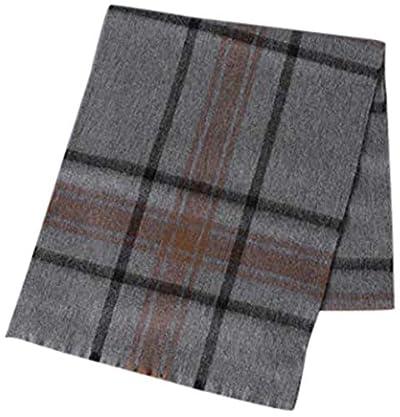 United Arrows Overplaid Lambswool Angora Scarf 1336-499-3745: Mid Grey