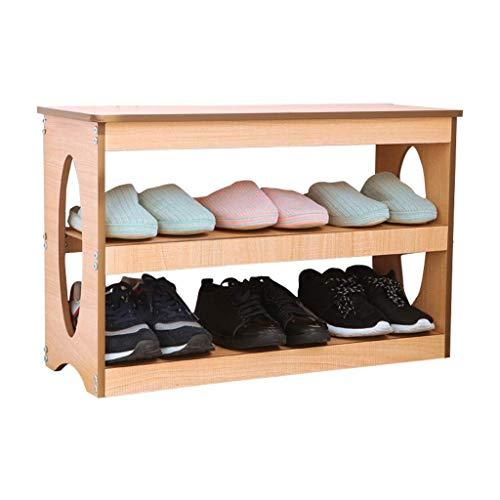 FSYGZJ Cambie el Taburete de Zapatos, Banco Cambie el Banco de Zapatos Taburete Moderno Entrada Zapatero Puerta Caja de Zapatos Banco de Almacenamiento multifunción (Color: Color Madera, tamaño: 70