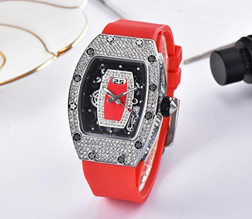 SANDA Reloj Hombre,Reloj de Moda de la Marca del Reloj del Cuarzo de la Serie del Diamante Artificial-2