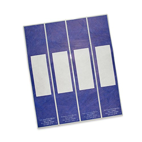 Color-Bands Color Coding File Handles and Labels for Expandable File Pockets and Wallets, Navy, 100 per Package