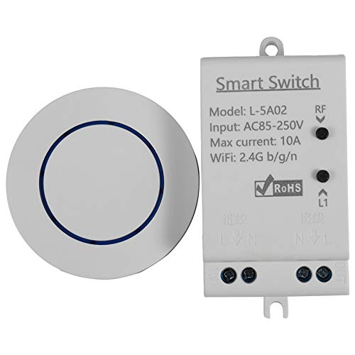 FRTUI EWeLink Casa Inteligente WiFi RF Interruptor InaláMbrico Temporizador APP de Voz MóDulo de Control Remoto Funciona con Home Amazon Alexa