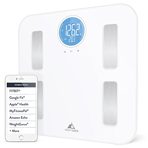 GreaterGoods Smart Body Fat Body Composition Scales, Comes with Free Helpdesk Support (White WiFi)