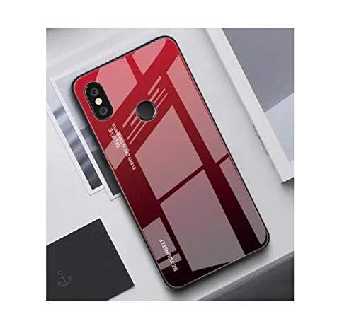 Capa Case Capinha Vidro Color Glass Vermelho Xiaomi Mi Mix 2s