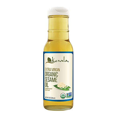 Kevala Extra Virgin Organic Sesame Oil, 8 Ounce
