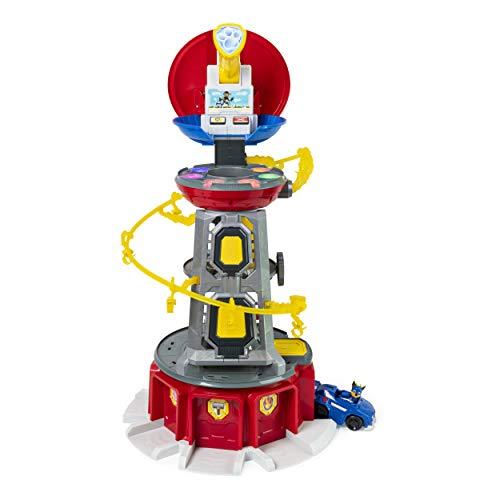 PAW PATROL, Set di Gioco e Torre di Controllo Mighty Pups Super Paws con luci ed Effetti sonori, per Bambini dai 3 Anni in su, Multicolore, 6053408