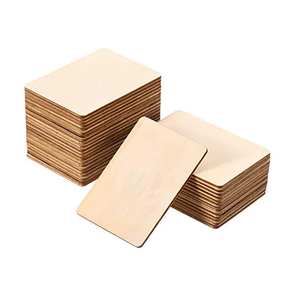 Boao Blank Wood Squares Wood Pieces