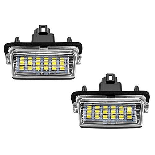 Safego LED Kennzeichenbeleuchtung Nummernschildbeleuchtung Licht 6000K Xenon Weiß 12V für TO-YO-TA CAMRY/COROLLA/PRIUS C/RACTIS/YARIS, 2 Stücke, 1 Jahr Garantie